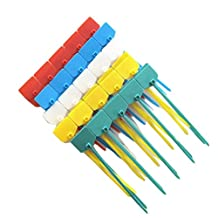 Amgate 100 Pcs 4 Inch Marker Nylon Cable Ties Write on Ethernet, Colorful Wire Zip Ties Cable Mark Tags Nylon Power Marking Label
