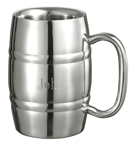 Personalized Stainless Steel Beer Mug with Free Engraving -