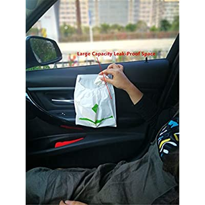 Esing Trash Garbage Bag Can Bin Disposable Container of Waste Rubbish Litter for Auto Car Vehicle Office Kitchen Bathroom Study Room,30Pcs (1Pack): Kitchen & Dining