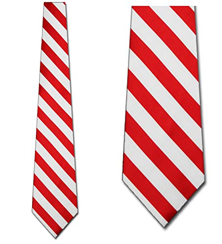 (Mens College Red and White Striped Ties)