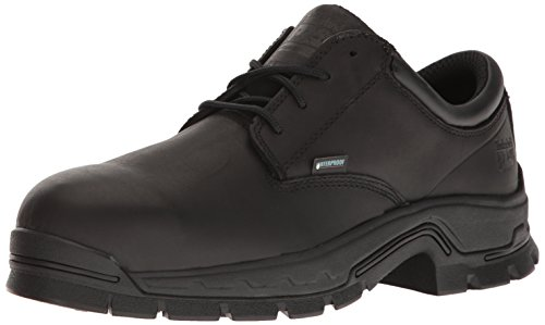 Timberland PRO Men's Stockdale Oxford Alloy Toe Waterproof Industrial and Construction Shoe, Black Full Grain Leather, 9.5 M US - Black Leather Safety Shoe