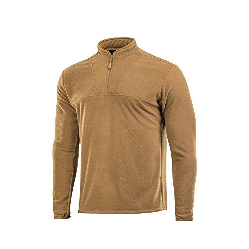 Underwear Zip Collar Shirt - Delta Fleece Mens Top Thermal Underwear for Men Fleece Lined Compression Shirt (Coyote Brown, S)