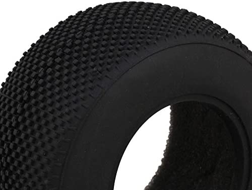 Mxfansブラック小さな正方形パターンスーパーソフトゴムタイヤfor rc1: 10ショートトラックモデル車のセット4