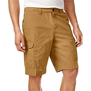 Tommy Hilfiger Mens Helios Cotton Casual Cargo Shorts Tan 30