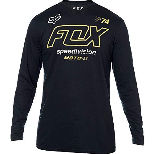 Fox Racing Assessing Long Sleeve Shirt (MEDIUM) (BLACK)