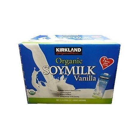 Kirkland leche de soja de vainilla 946mlX12 Conjunto de sabor: Amazon.es: Alimentación y bebidas