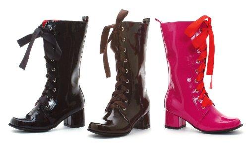 Girls Black Lace Up Gogo Boots - -