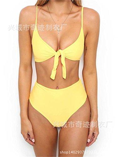 bagno costume bikini dimagrante serie da donna semplice giallo 8078 sexy split set Beachwear da l TIANLU moda wCqAYf