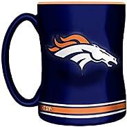 NFL Denver Broncos Sculpted Mug, 14-Ounce