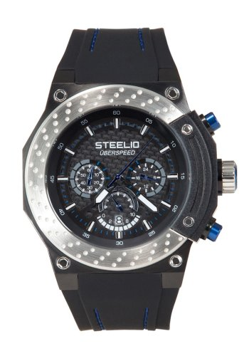 Steelio Men's Überspeed Retrograde Chronograph (Steel-Blue)