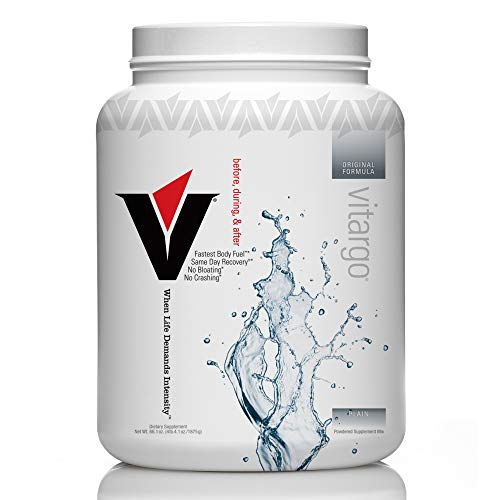 Vitargo - Premier Carbohydrate Fuel for Athletic Performance, Before - During - After Workout, Vegan and Gluten Free (Plain, 50 Scoops)