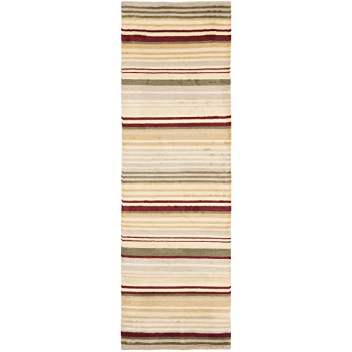 Safavieh Lexington Collection LX122B Hand-Knotted Multicolored Wool Runner (2'6