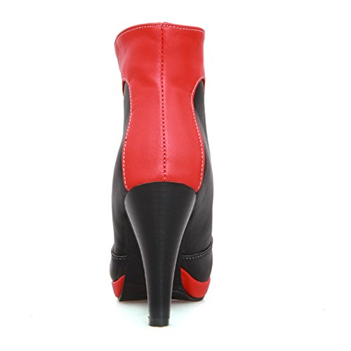 JOJONUNU High Heel Dress Boots Red Women zzxw5PnRB