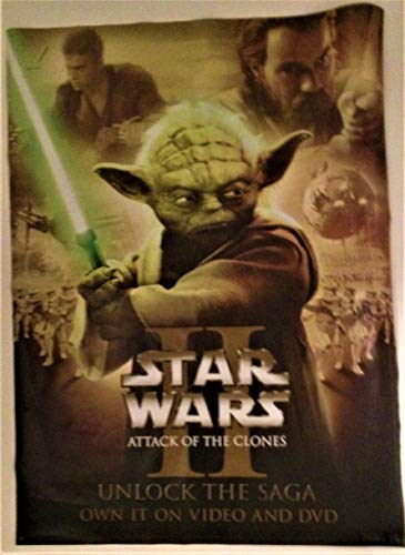 (Star Wars: Attack of the Clones 20th Century Fox Video 2002 Static Cling Display)