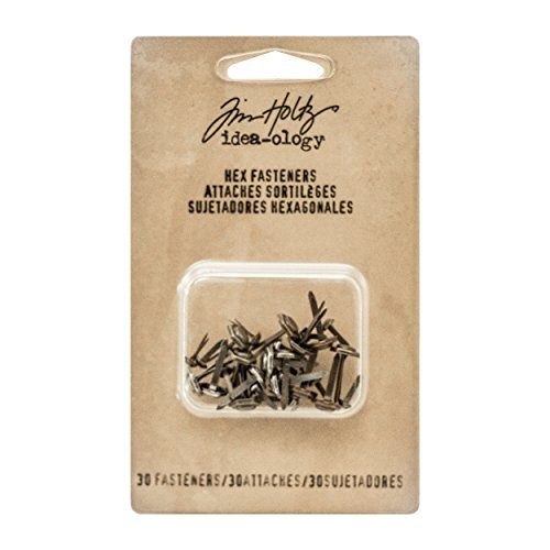 Tim Holtz Idea-ology Hex Fasteners 30/Pack, 1/4 Inch and 1/2 Inch Designs, Antiqued Nickel, Brass and Copper (TH93268) by Tim Holtz Idea-ology (Image #2)
