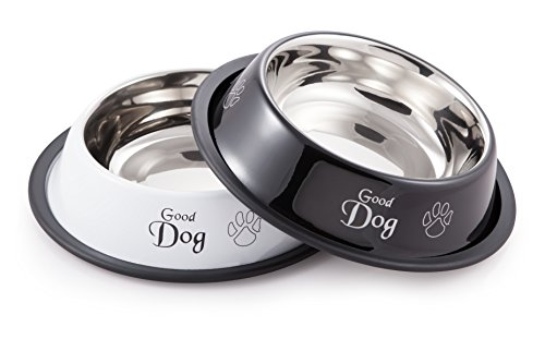 McSunley 854-2 Stainless Steel 2Piece No Skid Pet Bowl Set by McSunley