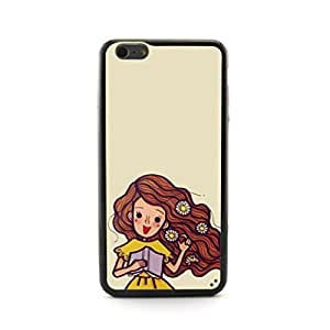 CaseCityLiu - Flowers On the Hair Cartoon Hair Beauty Pattern Design Hard Case Cover for Apple iPhone 5 5s 5th 5g 5Generation Come With FREE Non Woven Packing Bag
