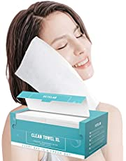 Organic Disposable Face Towel for Skincare - 70 Count VeteLab Biodegradable Facial Cloth for Makeup Removing Wipes