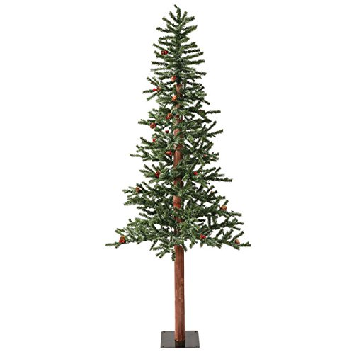 Vickerman-2-Frosted-Alpine-Berry-Artificial-Christmas-Tree-with-50-Warm-White-LED-lights