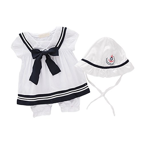 AvaCostume Girls Ssailor Dress Romper