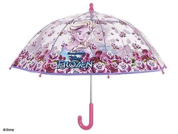 PERLETTI 50212, Paraguas de Cúpula de Frozen para Niña, Poliéster, 42 x 8