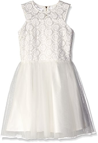 Miss Behave Big Girls' Emily Dress, White, Large by Miss Behave