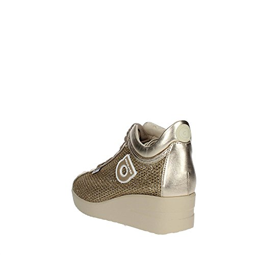 Agile By Rucoline 226 A Sneakers Femme Cuir/tissu Or Or 38