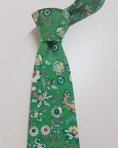 Corbata verde floral hecho a mano hand made: Amazon.es: Handmade