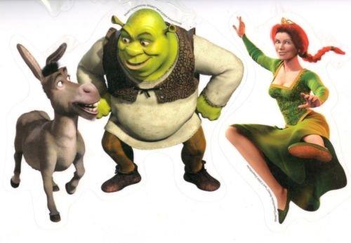 Disney Shrek Window Cling Sheet - Window Decals - Window Stickers - Includes 5 Medium - Fiona Sheets