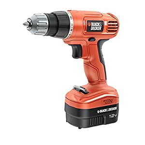 Black+Decker EPC-12-CA - Taladro sin cable, color naranja
