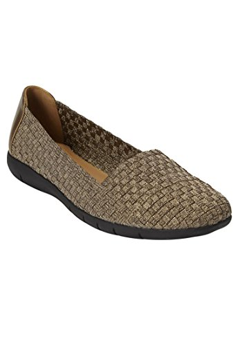 Comfortview Womens Wide Bethany Flats Bronze