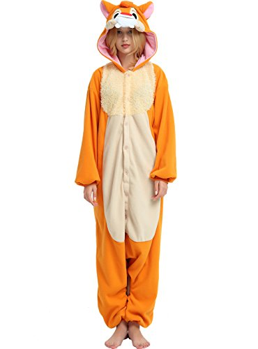 Hallowitch Chipmunk Dale Onesie Costume for Adult (Small) Orange