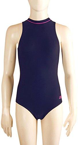 Zoggs Girls Broome Zipped Hi Neck Swimsuit Amazoncouk Sports