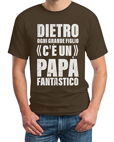Figlio Maglietta Fantastico Marrone Idea C'è Da Papà Ogni Uomo Shirtgeil Regalo Dietro Un qZEHnFw