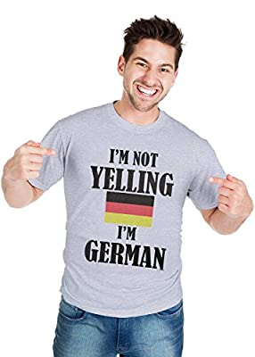 Retreez Funny Sarcasm Sarcastic I'm Not Yelling I'm German Printed T-Shirt Tee