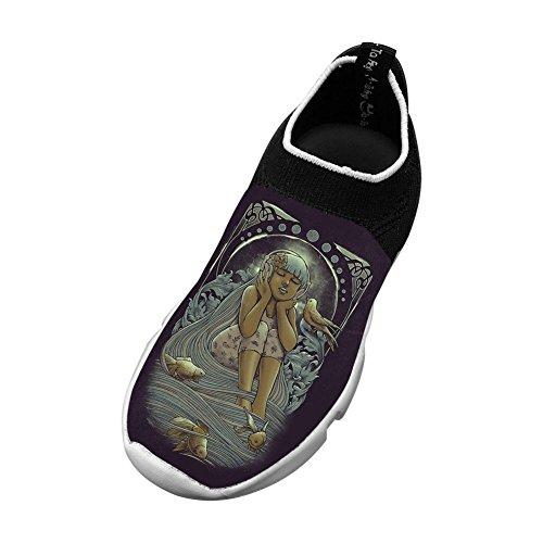 Owow Shoe Sports Shoes Artwork Girl Slip-On Fly Knit Lightweight For Children Breathable Custom Sneakers