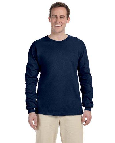 FOL 4930 Adult Heavy Cotton HD Long-Sleeve T-Shirt - J Navy, Small