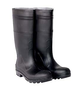 CLC Rain Wear F23011 Over The Sock Black PVC Men's Rain Boot, Size 11