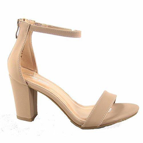 Fashion Moda High Heel Top Evening Ankle Strap Tan Shoes Women's Dress Sandal EZdwp