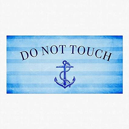 CGSignLab 96x48 Nautical Stripes Perforated Window Decal Do Not Touch