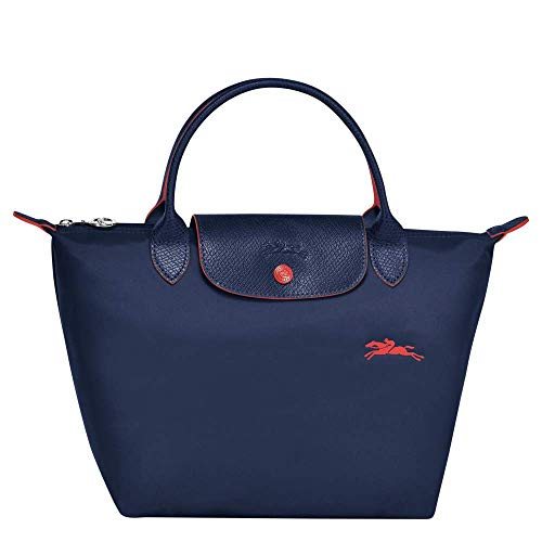 Longchamp LE Pliage Club - Bolso de mano (tamaño pequeño), color azul marino