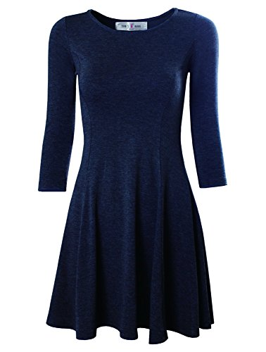 TAM WARE Women's Casual Slim Fit and Flare