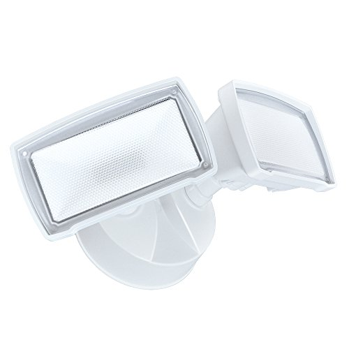 Good Earth Lighting Two-Head LED Switch Controlled Security Light - White by Good Earth Lighting