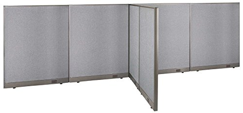 GOF T-Shaped Freestanding Partition 60d x 192w x 60h / Office, Room Divider by GOF