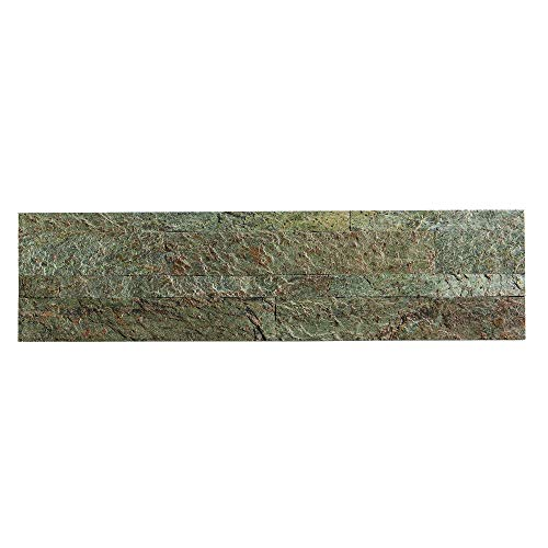 (Aspect Peel and Stick Stone Overlay Kitchen Backsplash - Tarnished Quartz (5.9