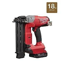Milwaukee M18 FUEL 18-Gauge Brad Nailer Kit | Hardware Power Tools for Your Carpentry Workshop, Machine Shop, Construction or Jobsite Needs