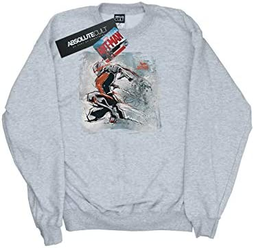 Marvel Damen Ant-Man Art Sketch Sweatshirt Medium Heather Grey