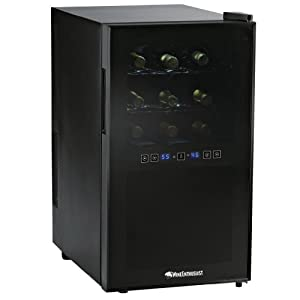 Wine Enthusiast Silent 18 Bottle Two-Temp Touchscreen Wine Refrigerator : Great little wine fridge