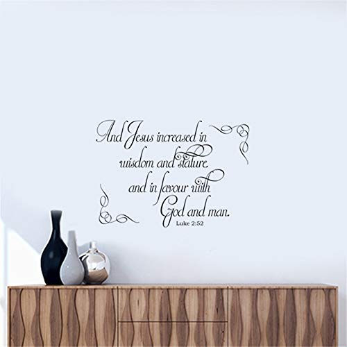 Wall Sticker Lettering Quotes and Saying Jesus Increased in Wisdom and Stature and in Favor with God and Man