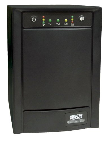 Tripp Lite SMART750SLT 750VA 500W UPS Smart Tower AVR 100/110/120V USB DB9 SNMP RJ45, 8 Outlets